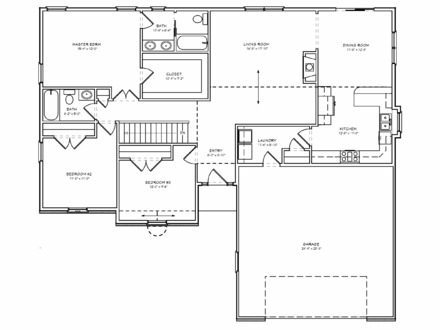 Simple 3 Bedroom House Floor Plans Ranch House