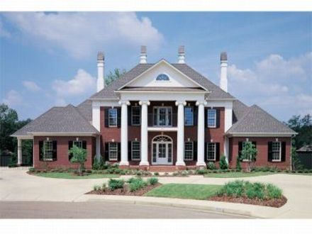 Federal Style House Southern Colonial Style House Plans