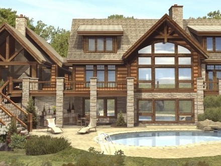Custom Log Homes Luxury Log Cabin Home Plans