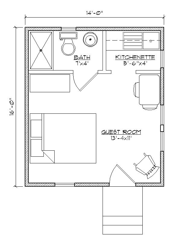 Shed guest house floor plan shed guest house inside house for House plans with detached guest house
