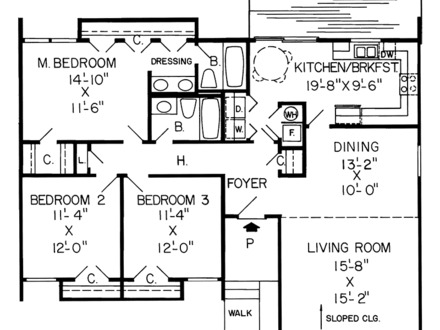 Modern ranch homes floor plans ranch style homes craftsman for Texas ranch house floor plans