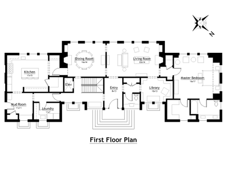 Future house designs future houses 2050 modern country for Modern country floor plans