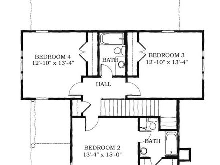 Historical southern house floor plans historic house plans for Charleston style home floor plans