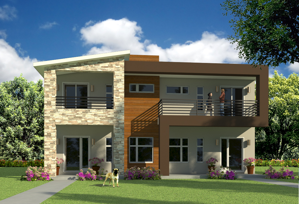 Modern duplex house plans duplex house design house for Duplex house models inside
