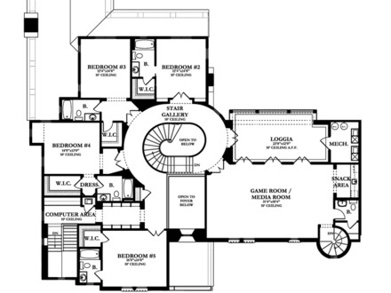 Spanish colonial mansion spanish colonial homes floor for Spanish colonial house plans