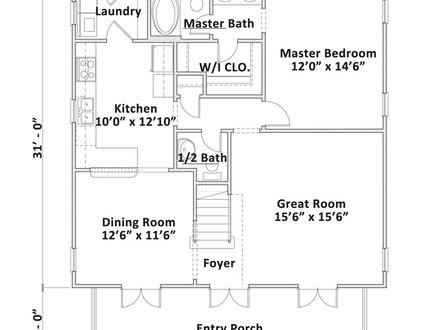 One story cabin floor plans large one story log homes 2 for Large cabin floor plans