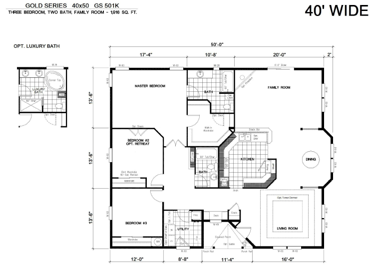 40X50 House Floor Plans 40X60 Barndominium