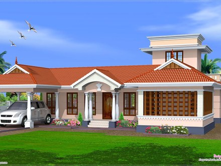 Kerala Single Floor House Designs Single Floor House Elevation