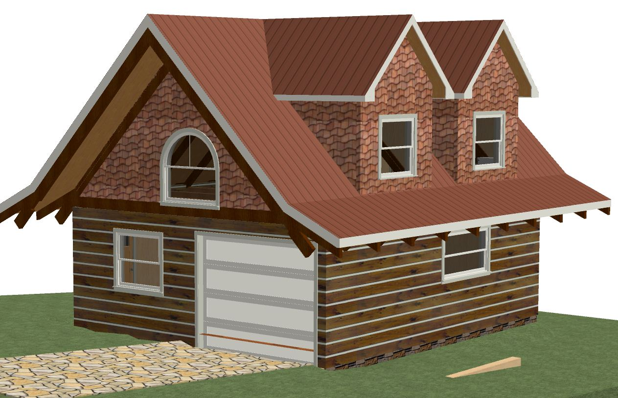 Log garage kits with loft log cabin garage apartment kit for Garage with apartment above kits