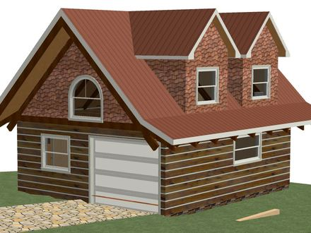 Two story garages kits two story detached garage hip roof for 2 car garage with loft kit
