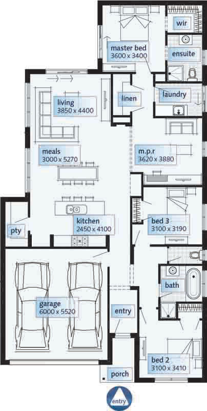 Modern One Story House Plan With Lots Of Natural Light: Modern Single Story Home Designs Single Storey House Floor