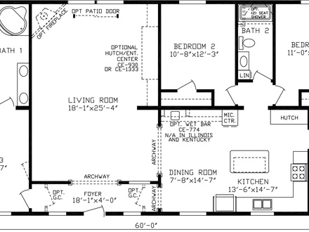 Triple Wide Mobile Home Floor Plans Mobile Home Floor Plans