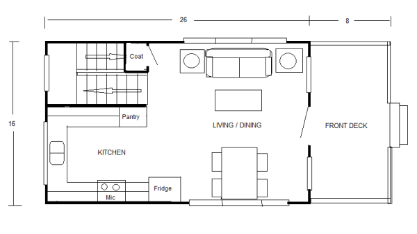 How Big Is 800 Sq Ft 800 Sq Ft Floor Plans 800 Sq Ft Home