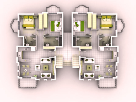 3D Small House Floor Plans 3D Floor Tile