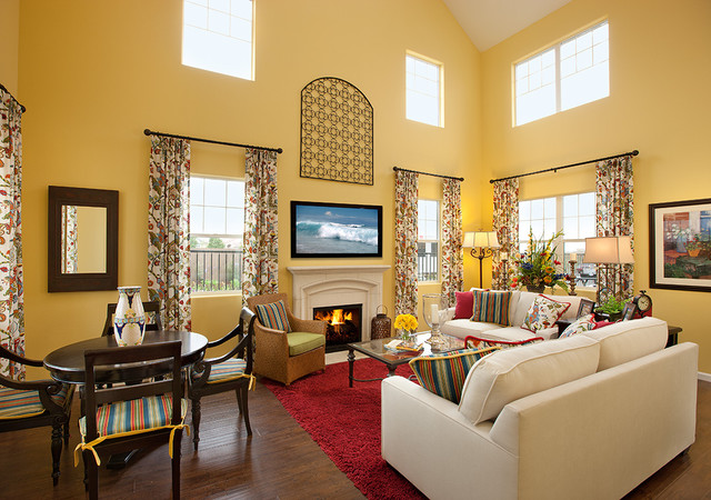 Mediterranean style Living Room Mediterranean Living Room Ideas