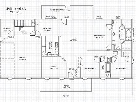 Ranch House Floor Plans with Basement Country Ranch House Plans