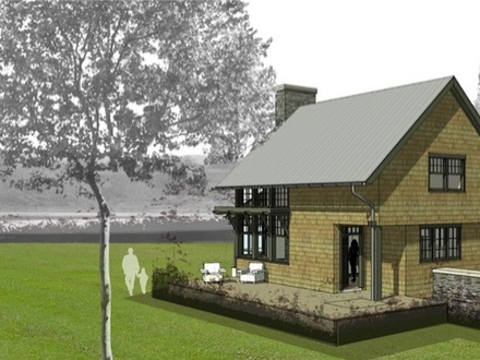 One story house plans with wrap around porch ranch house for Lakeside cabin plans