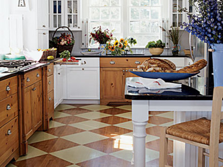 Patterned Floor One Point Perspective Patterned Kitchen Floor