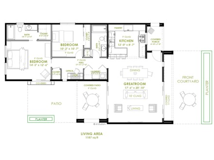 Two Bedroom Prefab Tiny House Modern Two Bedroom House Plans
