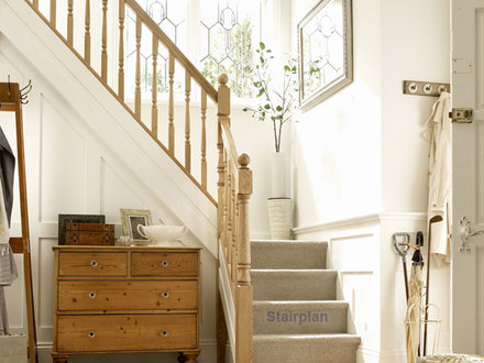 Colonial Staircase with Landing Stair with Landing Plans