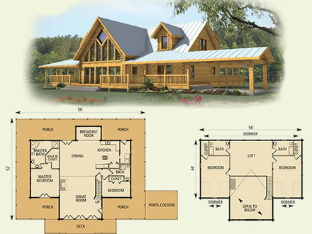 Log cabin 2 bed inside log cabin 2 bed log cabin for Basic log cabin plans