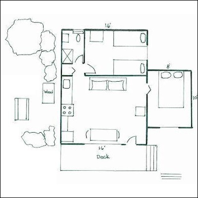 Small 2 Bedroom Cottage Plans 2 Br Cottage Plans Two