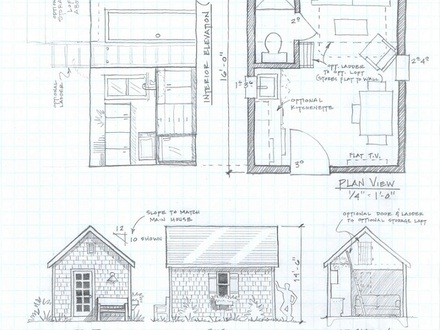 Simple small house floor plans hunting cabin house plans for Modern cabin plans with loft