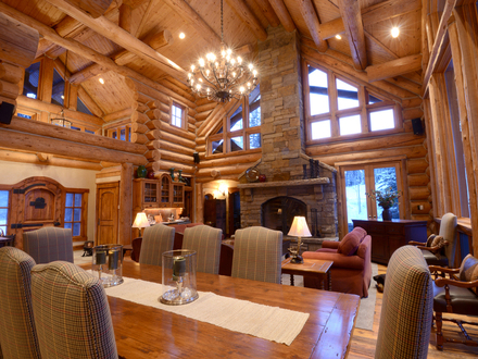 Amazing Log Homes Interior Interior Log Home Open Floor Plans
