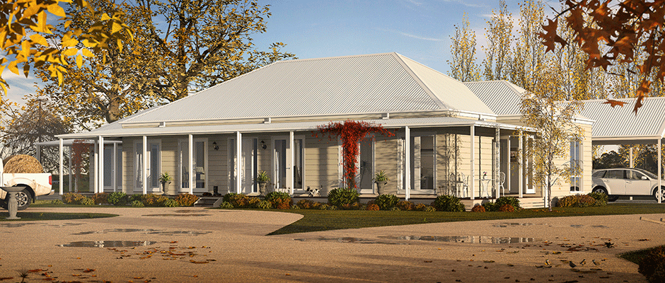 Country home designs, prebuilt for country living in Victoria Factory Built Homes