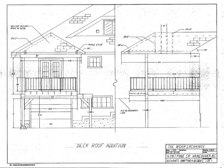 Deck with Roof Plans Gable Deck Roof Plans