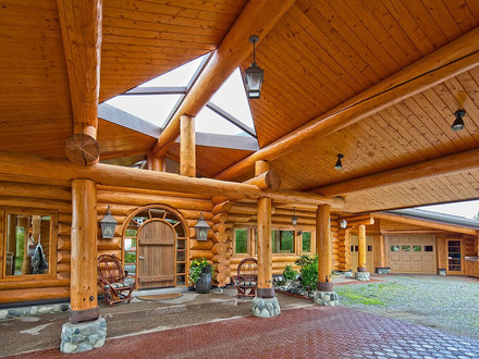 Ivy and Co Architects Contemporary Log Home Logo Co Architects