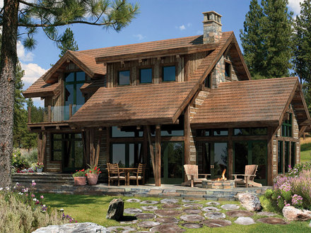 Stonehouse design ranch house designs timber log home for Ranch timber frame homes