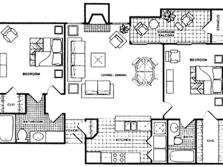 Model 2 Sq 2 Bedroom 1300 Sq Ft House Plans