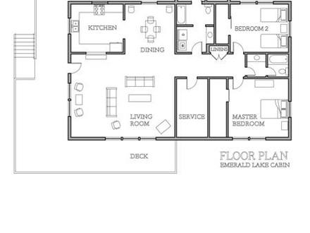 Small Lake Cabin Floor Plans Small Cabin Blueprints