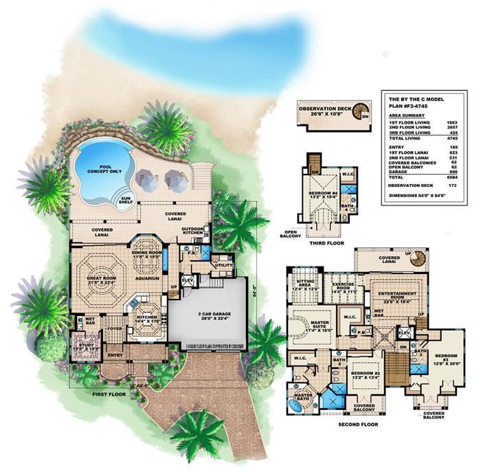 Tropical Small House Plans Tropical Island House Plans