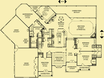 Brick and stone house plans brick homes with stone accents for Brick ranch house plans basement