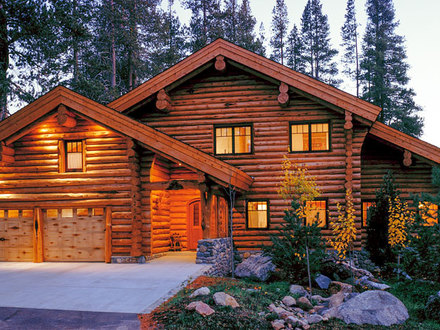 Log cabin home plans with basement simple log cabin house for North carolina mountain house plans