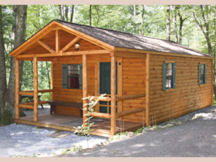 Log camping cabins for Camping cabins plans