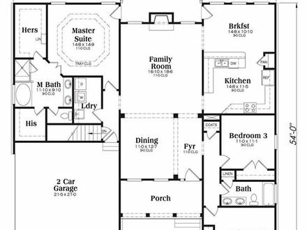 Southern house plans lakeside cottage house plan lakeside for Lakeside floor plan