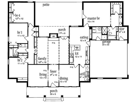 Open Plan House Designs Colonial Open Floor House Plans