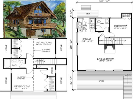 Chalet floor plans cape chalet floor plans chalet home for Chalet modular home plans
