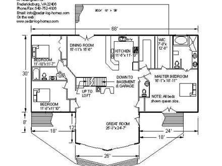 Log Home Floor Plans Log Cabin Floor Plans