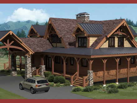 Small Log Home with Loft Custom Log Cabin Plans