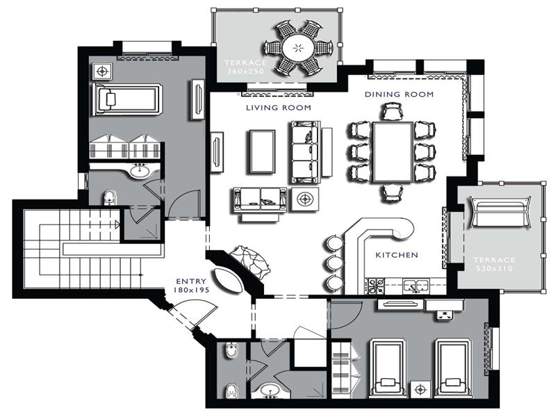Floor plans architecture on floor with architecture lower for Small condo plans