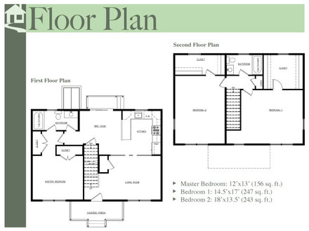 Two-Story Colonial Floor Plans Colonial Floor Plans
