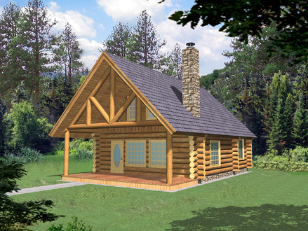 Small Log Cabin Homes Plans Small Cabins and Cottages