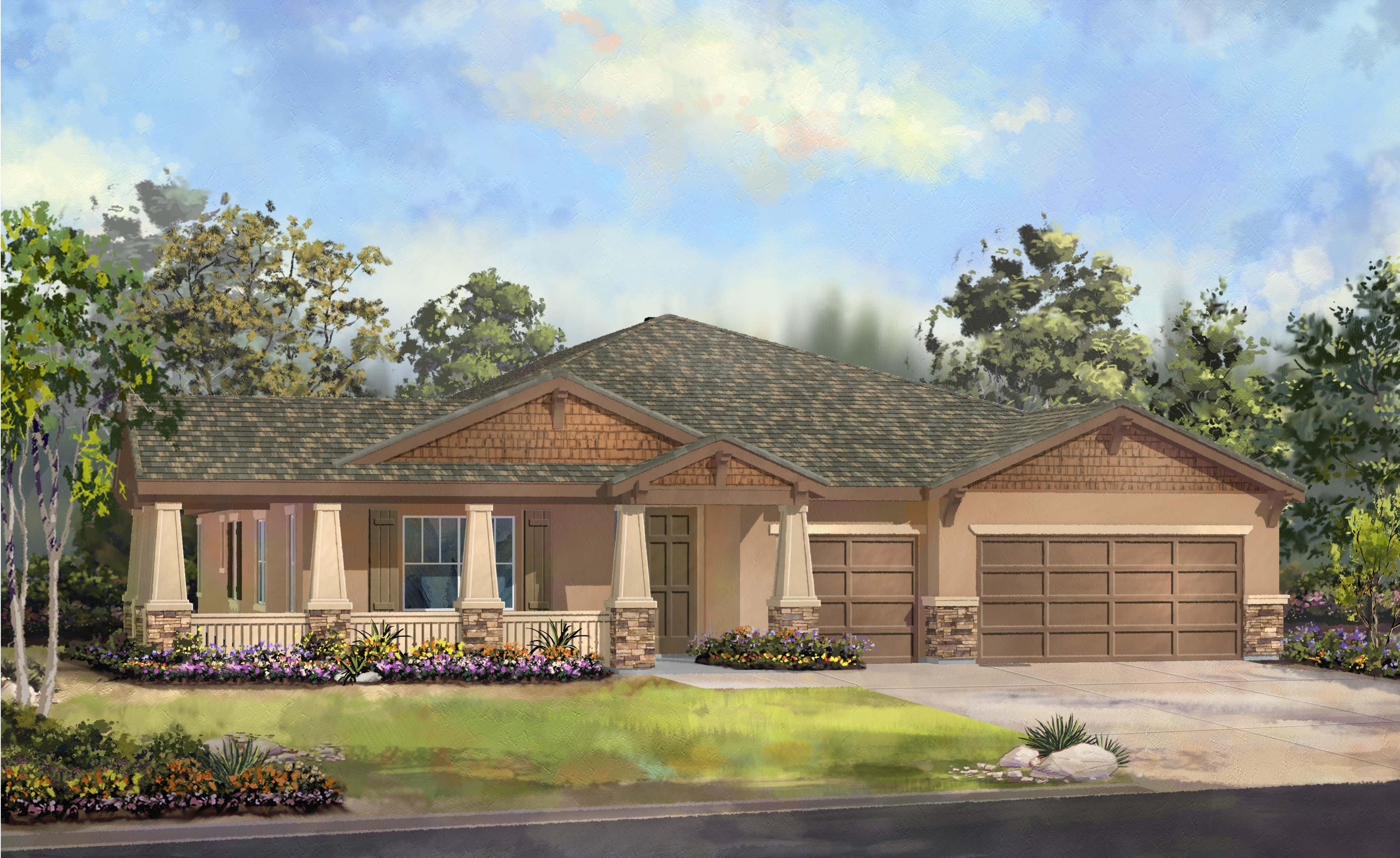 Ranch style homes craftsman ranch style home homes style for Ranch model homes