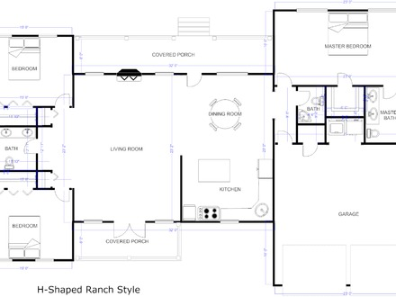 Modern Ranch House Plans House Floor Plan Examples