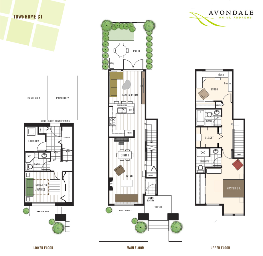 Modern townhouse floor plans 3 story townhouse floor plans for Three story townhouse floor plans