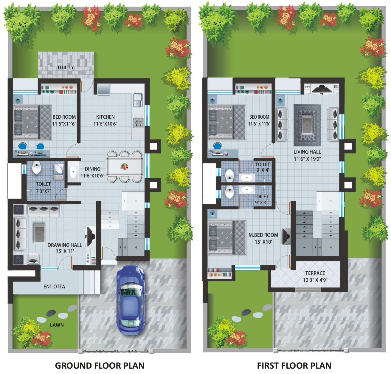 Bungalow 3d Floor Plan: Bungalow House Plans One Story Bungalow Floor Plans